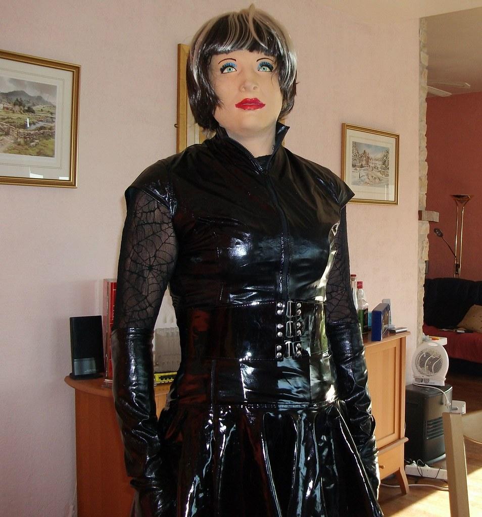 Rubber glove transvestite