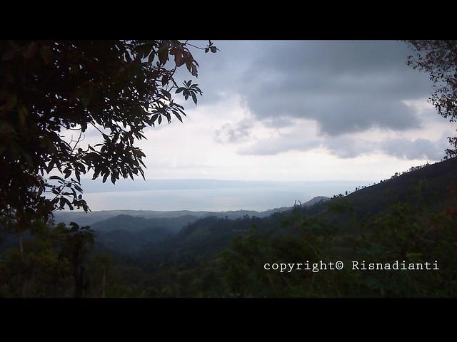 View Telok Pelabuhan Ratu From Gunung Keramat