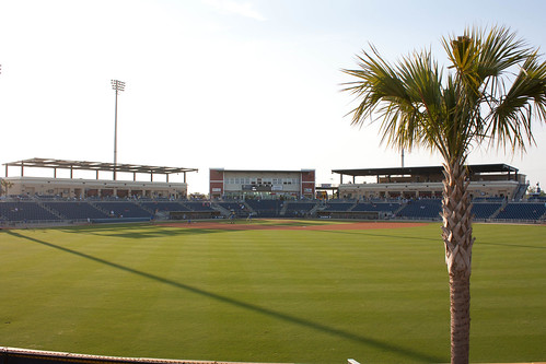 View from CF at Pensacola Bayfront Stadium