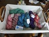 assorted handspun yarn