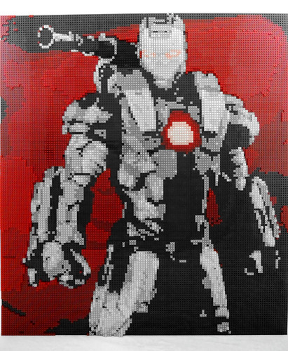 LEGO Mosaic of Marvel's War Machine uses 40,000 pieces