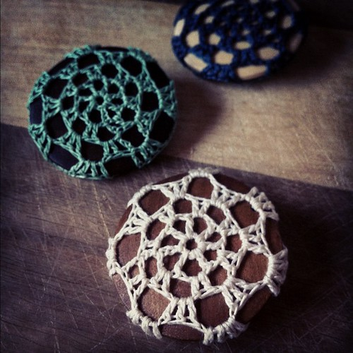 Whipping up some new crochet brooches for the @brisstyle indie twilight market on Friday night #brisstyle