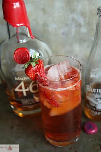 Strawberry Bourbon Fizz