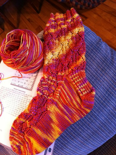 First Paragon sock done, second one almost to heel flap. by BlueDragon2