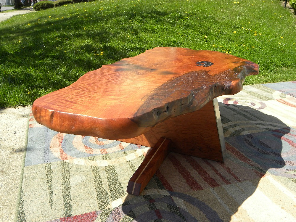 Coffee Table Redwood Burl Garry Zayon Mid Century Modern