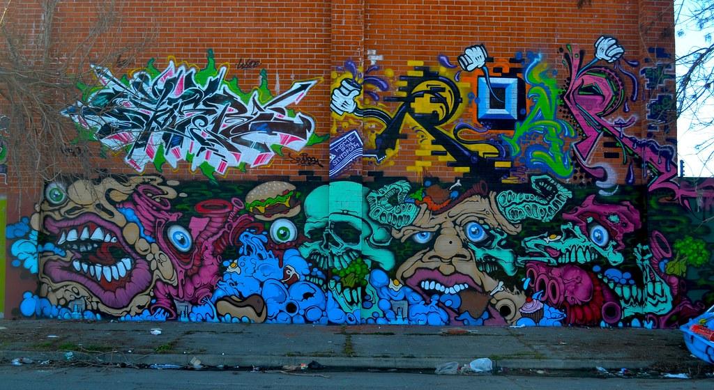 GOSER, ROAR, DVOTE, Graffiti, Oakland