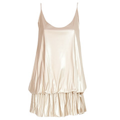 Twenties spaghetti strap dress in gold