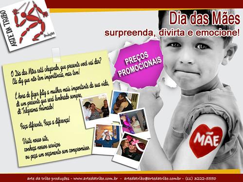 Arte daTribo - Telegrama Animado Presente DIA DAS MÃES 2013 by Arte da Tribo Produções