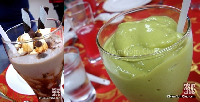 Left - RK Marshmallow Shake (P150); Right - RK Avocado Shake (P150)