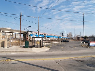 commuter rail station outside Chicago (by: Stephen Vance, creative commons)