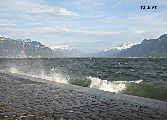 rafales de foehn sur le Lac Léman à Vevey en Suisse le 28 avril 2012 météopassion