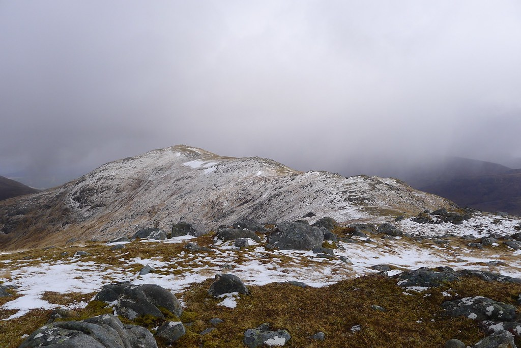Snow on Meall nan Damh