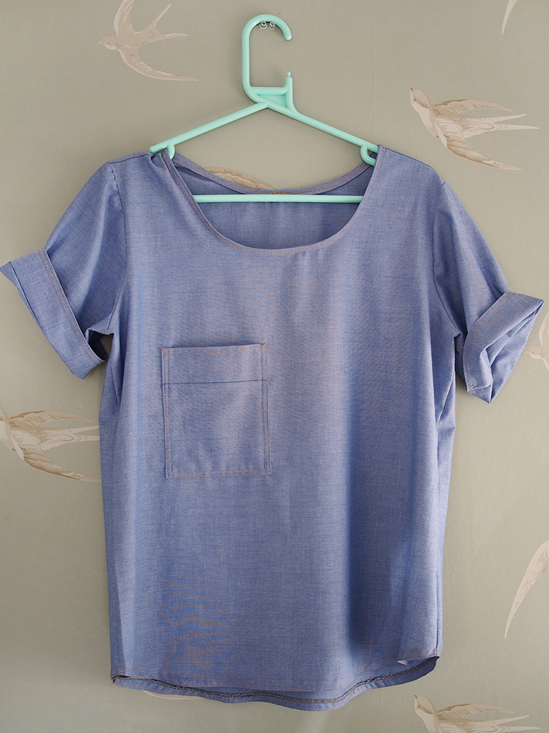 Me Made May Chambray Scout Tee What Katie Does