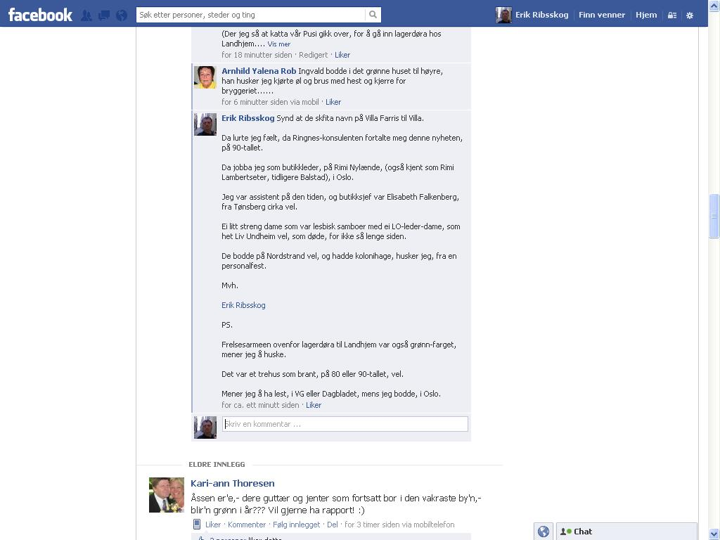 enda mer facebook larvik