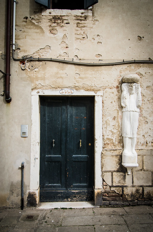 A well worn door step in the neighborhood of Cannaregio.