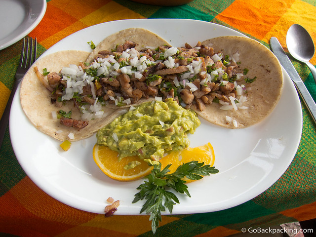 Fish tacos at the Sticky Fingers restaurant in the Puerto Vallarta marina