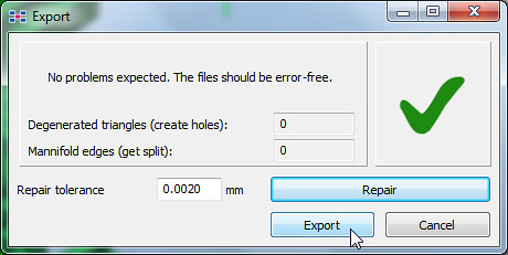 15 - Netfabb Studio Basic export with repair 2