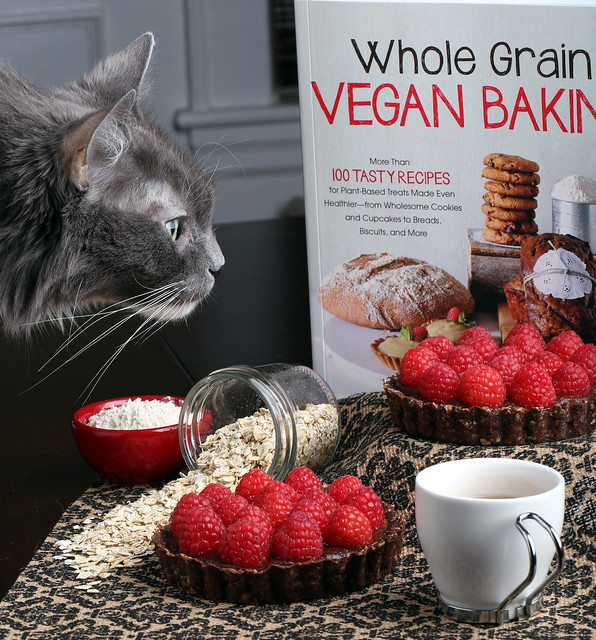 Chocolate Raspberry Tart from Whole Grain Vegan Baking
