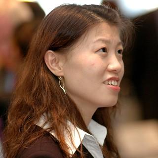 Student at Brandeis IBS Career Fair