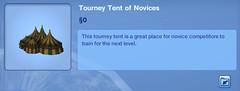 Tourney Tent of Novices