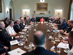 Senior military leaders meet with President Obama