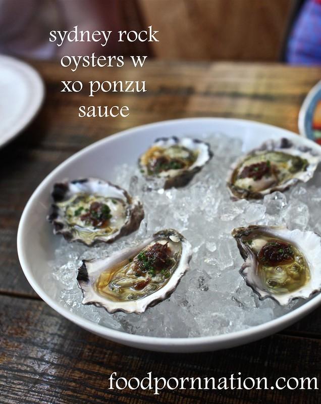 oysters w xo ponzu sauce