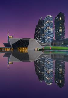 Guangzhou opera & Purple Sky