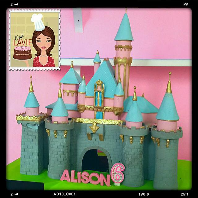 Castle Cake by Lavina Barbie of C'est LAVIE Cakes & Pastries