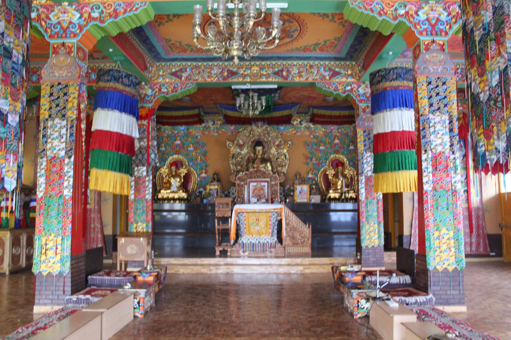 Inside the monastery in Kaza