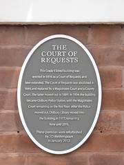 Photo of The Court of Requests, Oldbury brown plaque