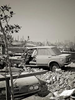 The last parking lot.
