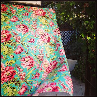 Bliss Bouquet minky blanket