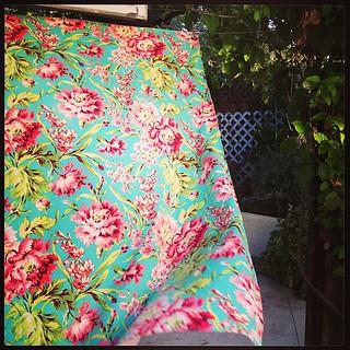 Bliss Bouquet minky blanket