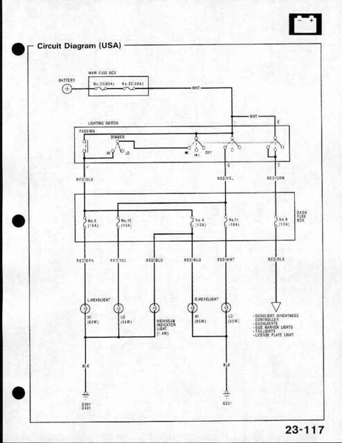 crx community forum \u2022 view topic lh headlight wiring?88 Crx Headlight Wiring Diagram #1