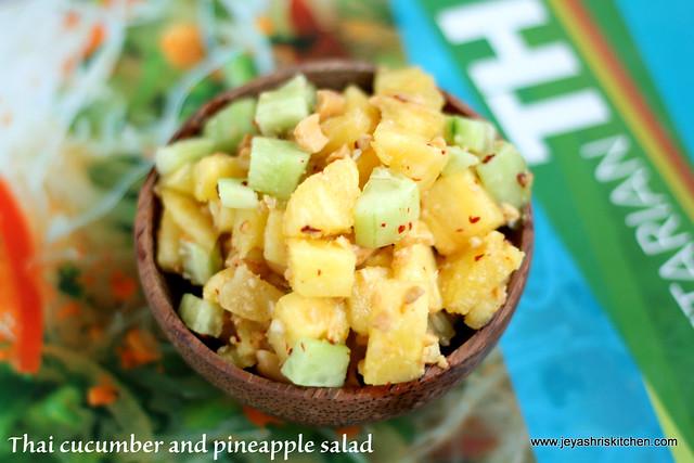 thai cucumber and pineapple salad 2