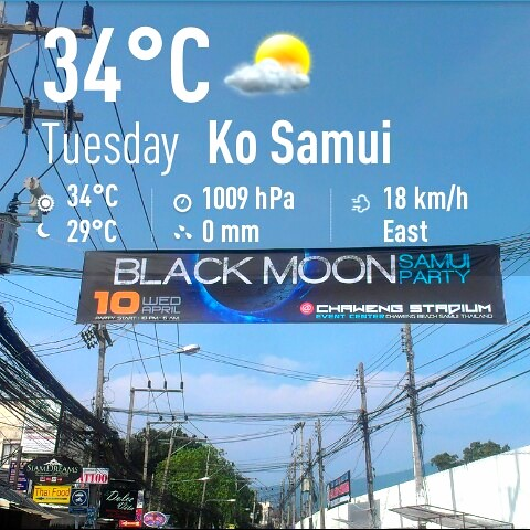 Koh Samui Weather 9th April 2013
