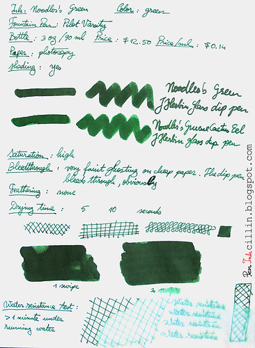Noodler's Green on photocopy