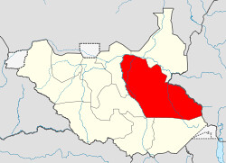 A map of Jonglei area where several United Nations personnel were killed in an ambush on April 9, 2013. The region of South Sudan has been a flash point since the country gained independence in 2011. by Pan-African News Wire File Photos