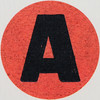 Vintage Sticker Letter A by Leo Reynolds