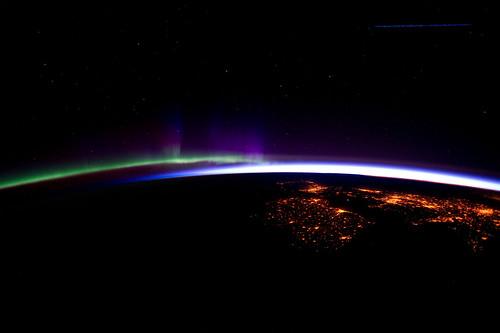 Aurora dalla Stazione Spaziale Internazionale