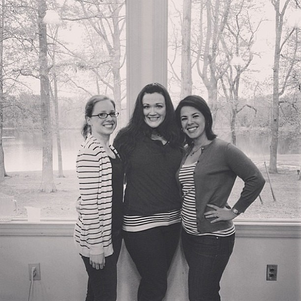 Going to miss my girls @a_2_w and @hotpinkstitches !!! We all matched in our stripes today!