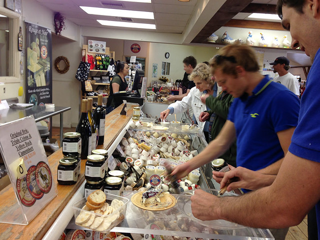 Cheese tasting in Sonoma County. The Marin French Cheese Company in Petaluma, CA