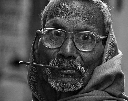 Citizen of Varanasi with Neem toothbrush