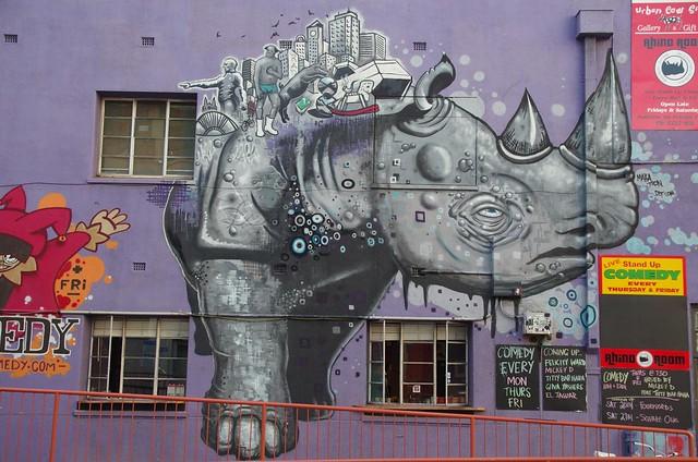 Rhino Room Comedy venue - Adelaide street art