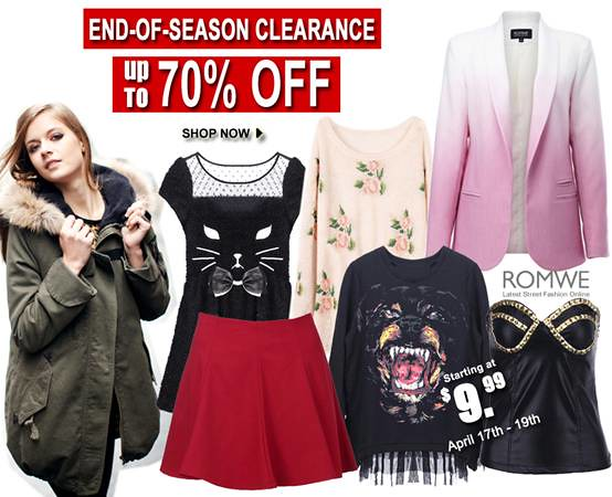 Romwe's end of season clearance sale!