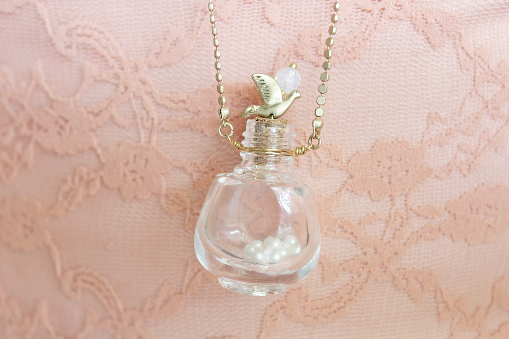 tiny bottle necklace