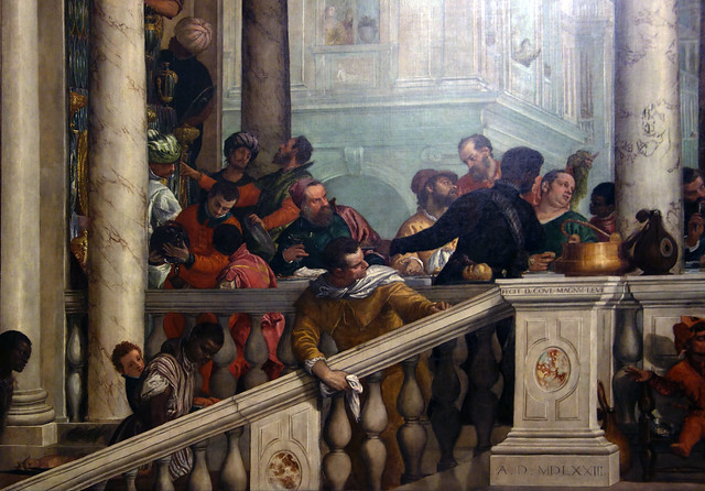 Detail of left stair, Paolo Veronese, Feast in the House ...