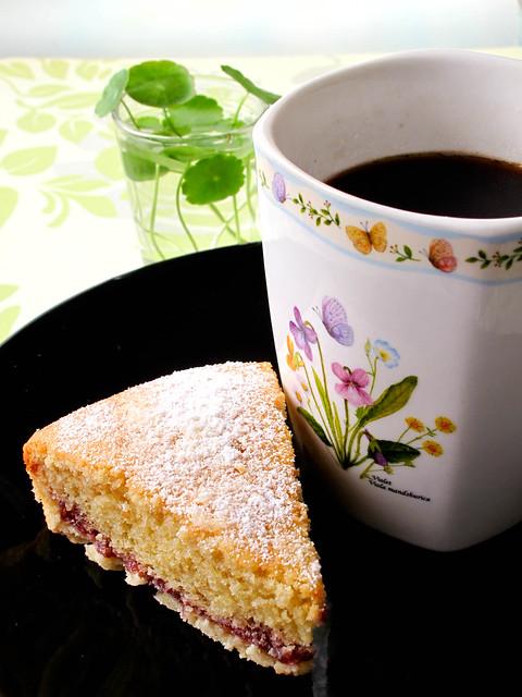 IMG_0967 Bakewell tart - raspberry jam , 杏仁塔