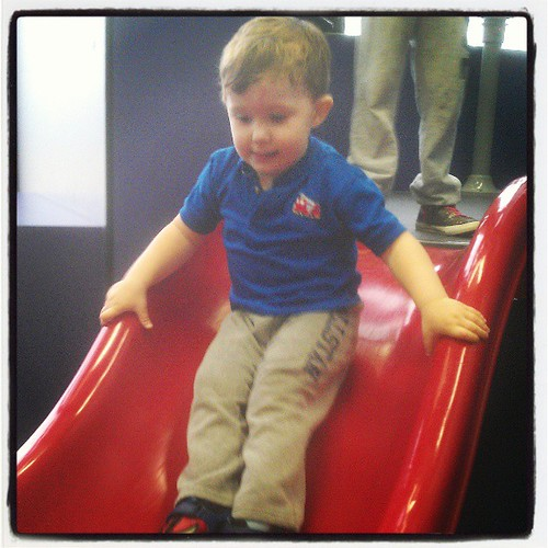KFP plays in the Aviation Play Station at the Philadelphia Airport. #travel