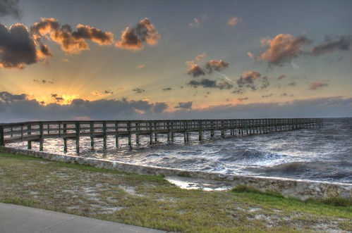 sunset water clouds canon pier florida puntagorda gilchrist eos60d blinkagain